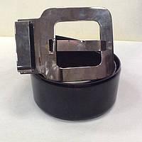 Ремень кожаный женский Micillo черный лаковый, фото 1