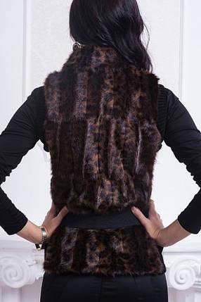 Меховая жилетка с довязом, фото 2