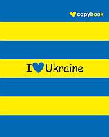 Тетрадь Серия «Украинская-символика»  60 л.
