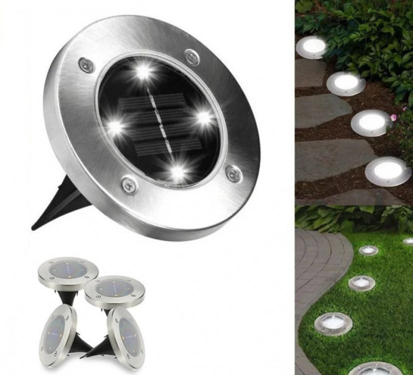Садовый светильник на солнечной батарее DISK LIGHTS