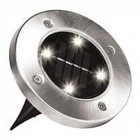 Садовый светильник на солнечной батарее DISK LIGHTS, фото 2
