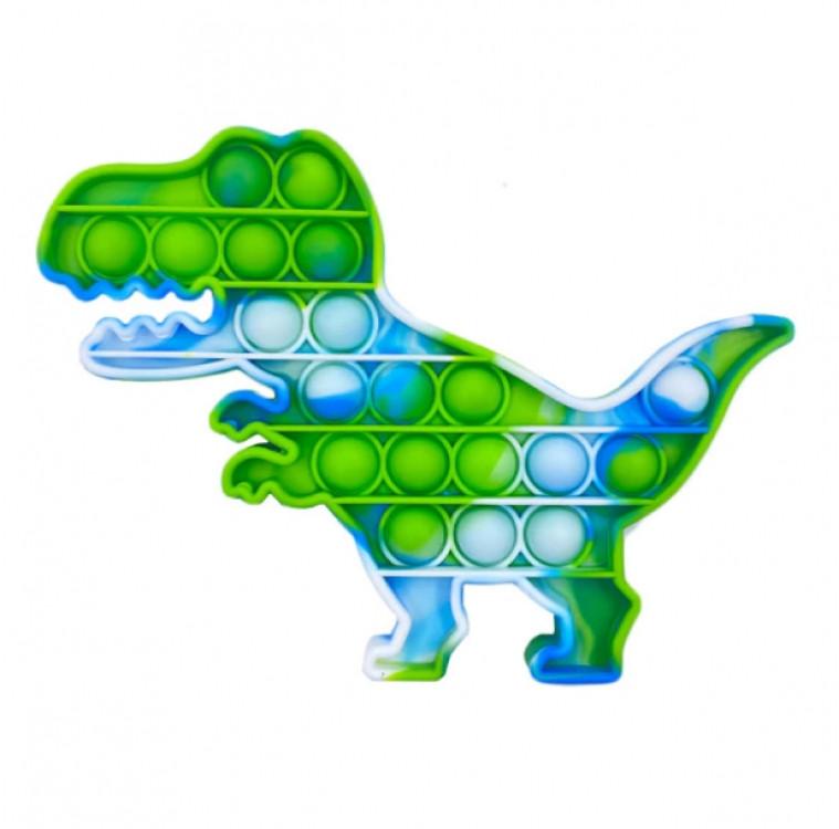 Мягкая игрушка антистресс, бесконечная пупырка Pop It Динозавр