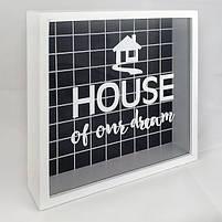 Дерев'яна скарбничка для грошей House of our dream, фото 2