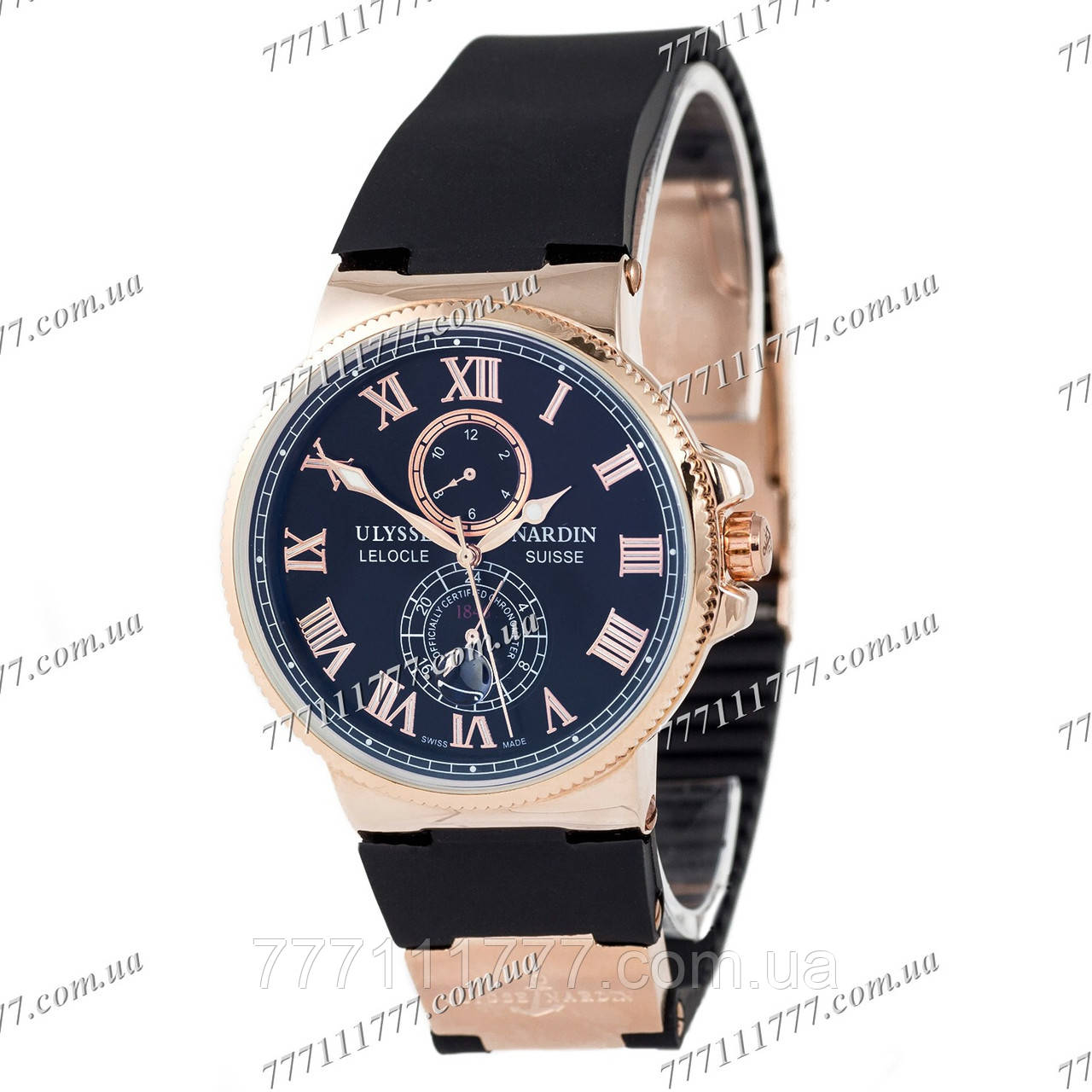 Часы мужские наручные Ulysse Nardin Maxi Marine AA Gold-Black ... cd14f4e37e1