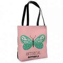 Сумка женская Antisocial butterfly, фото 2