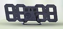 Светодиодные цифровые часы Black оclock (синие цифры), фото 3