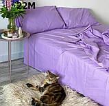 Комплект постельного белья однотонный   Бязь  GOLD 100% хлопок Красного  цвета, фото 4