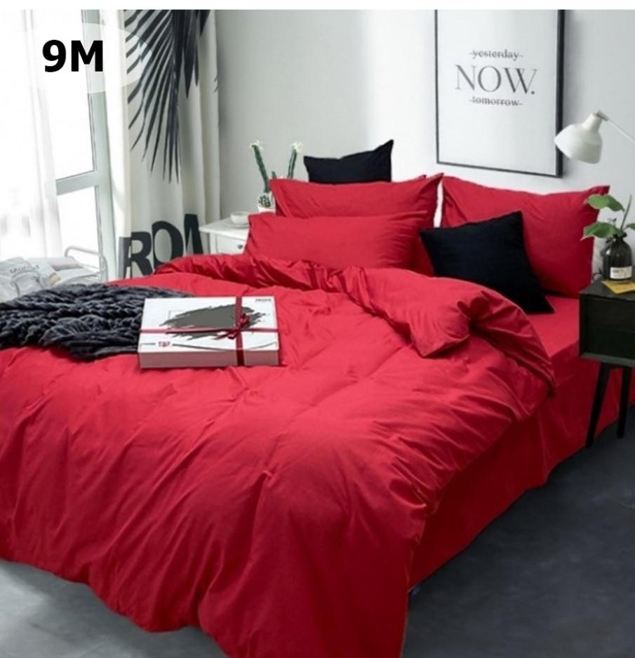 Комплект постельного белья однотонный   Бязь  GOLD 100% хлопок Красного  цвета