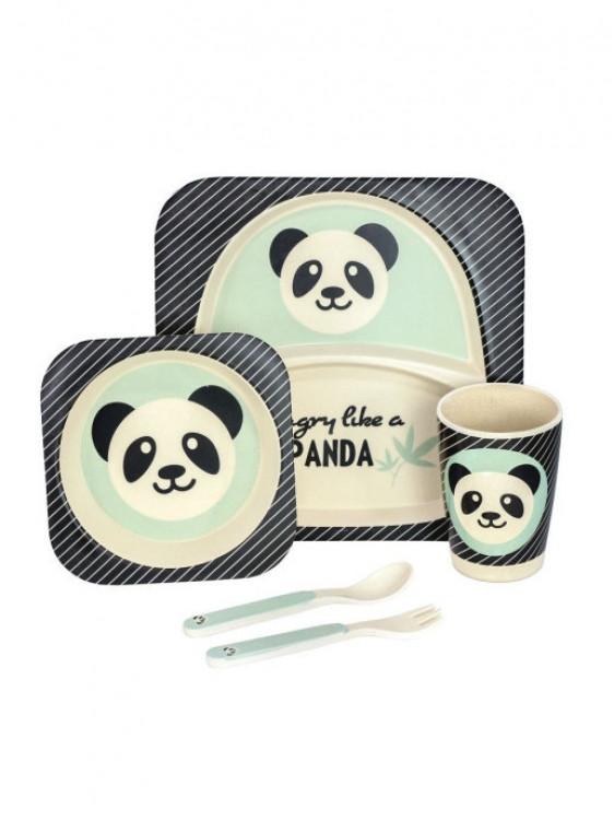 Набір бамбукових посуду з 5 предметів Панда