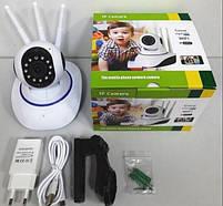 Бездротова поворотна IP камера відеоспостереження WiFi, фото 3