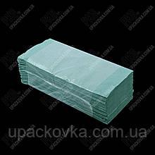 Рушник паперовий макулатурні V 1 шар. 250х230 мм. 160 шт/пач.,ЗЕЛЕНІ