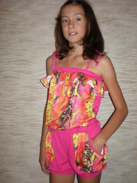"""Летний костюм для девочки """"Хулиганка"""" змейка  Детская одежда оптом."""
