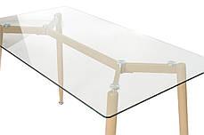Стол T-305 прозрачный + капучино, фото 3