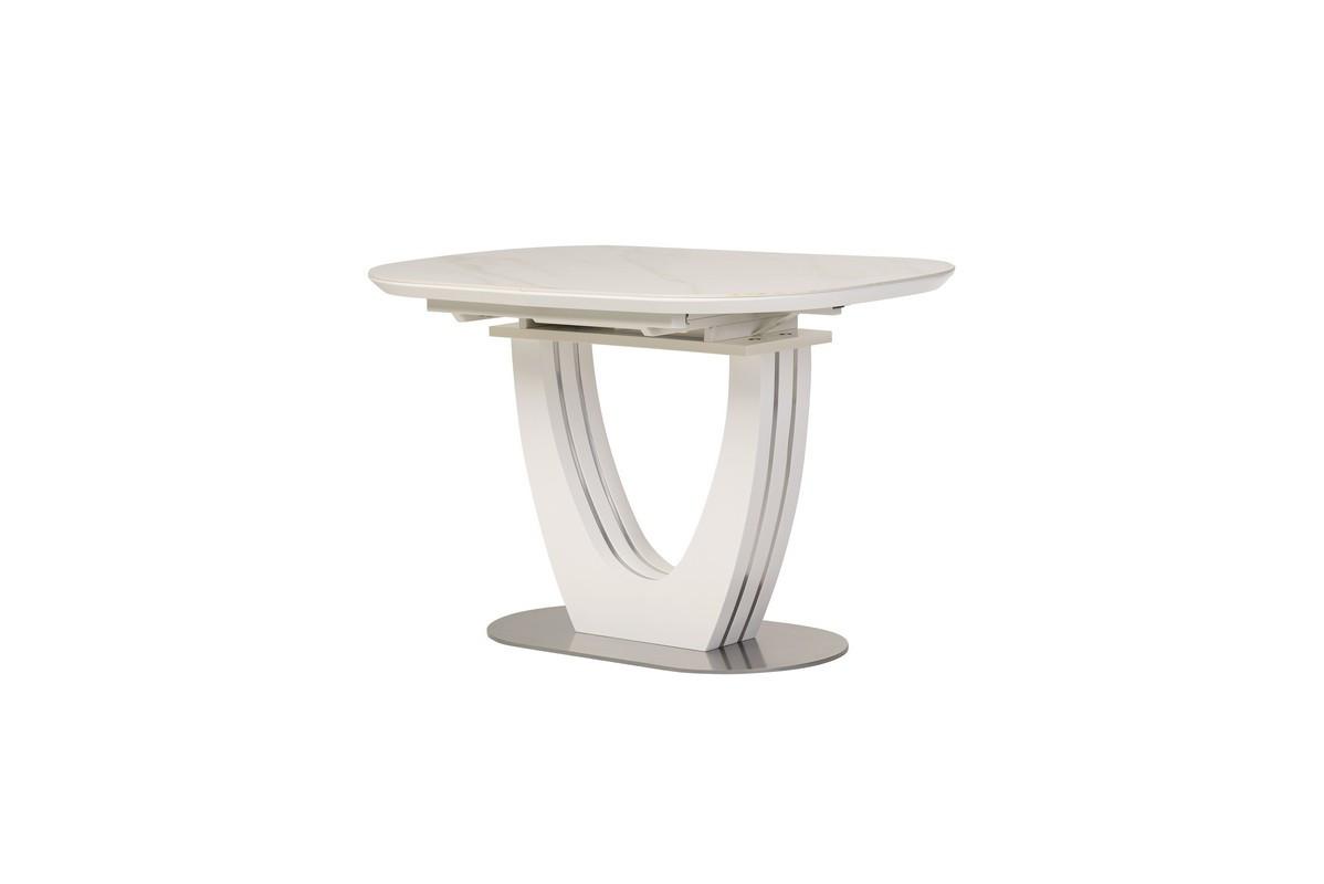 Керамічний стіл TML-866 білий мармур
