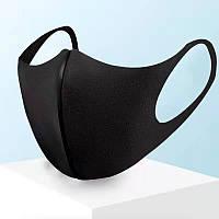 Маска-пита,многоразовая 3 штуки в упаковке.(Черные), фото 1