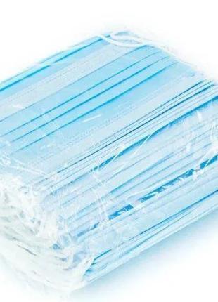 Маска медицинская трехслойная  , оригинал 50 штук в упаковке