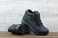 Кожаные мужские зимние ботинки ECCO   натуральная кожа / натуральная шерсть набивная + термополиуретан
