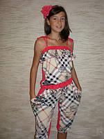 """Летний костюм для девочки """"Барбари капри"""" . Детская одежда оптом. Коллекция лето 2015, фото 1"""