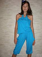 """Летний костюм для девочки """"Бантик капри"""" . Детская одежда оптом. , фото 1"""
