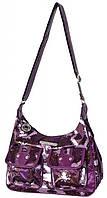Интригующая женская сумка Daniel Ray нейлон 42,587537 фиолетовая