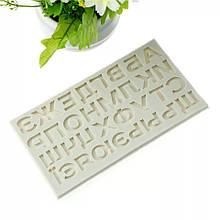 """Молд силиконовый """"Алфавит"""" - размер молда 16*9см"""