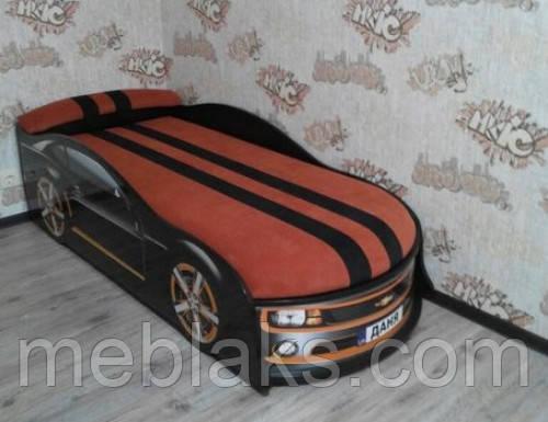 Кровать машина Камаро черная Mebelkon