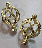 Карниз для штор металевий АЖУР подвійний 16+16 мм 2.4 м Золото, фото 2