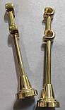 Карниз для штор металевий АЖУР подвійний 16+16 мм 2.4 м Золото, фото 3