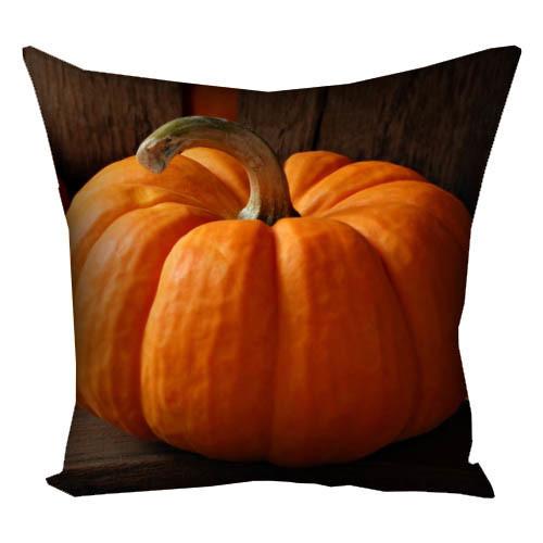 Подушка с принтом Красивая тыква Хэллоуин 30x30, 40x40x 50x50 (3P_HAL009)