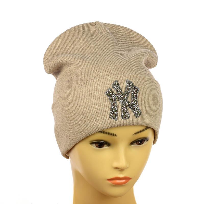 """Молодіжна шапка """"NewYork"""" пісочний"""