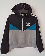 """Детская спортивная кофта с капюшоном """"Adidas 3"""" (122-140р)"""