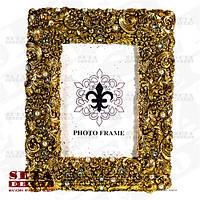 """Фоторамка """"Лувр"""" золотистая для фото 10х15 см"""