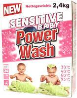 Стиральный порошок детский Power Wash Sensitive Baby 2,4кг