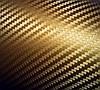 Карбон пленка 3D золотистый с микроканалами 100х152 см.