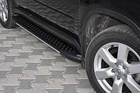 """Пороги """"Almond Black"""" на Джип Гранд Чероки Jeep Grand Cherokee  2005-2010"""