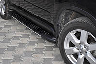"""Пороги """"Almond Black"""" на Ленд Ровер Дискавери Land Rover Discovery 2005-2009"""