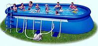 Овальный бассейн Oval Frame Pool 305 х 549 х 107см Intex 54432 в комплекте насос фильтр и аксессуары