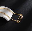 Браслет шпилька з ланцюжком лимонної позолоті в стилі АПМ Монако, фото 3