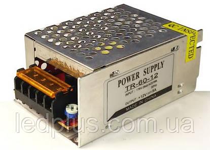 Блок питания 12В 5А (60Вт) TR60-12
