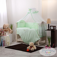 Комплект детского постельного белья «Golden baby»  Swarovski,зеленый