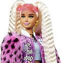 Barbie Лялька Барбі Екстра Стильна Модниця в рожевому пальто - Barbie Extra Style блондинка GRN28, фото 5