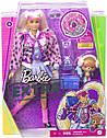 Barbie Лялька Барбі Екстра Стильна Модниця в рожевому пальто - Barbie Extra Style блондинка GRN28, фото 6