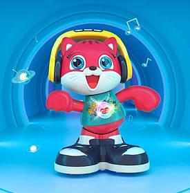 Музична гра Котик (на батарейках, підсвічування, співає, танцює, запис голосу, англійська озвучка) Hola E 721