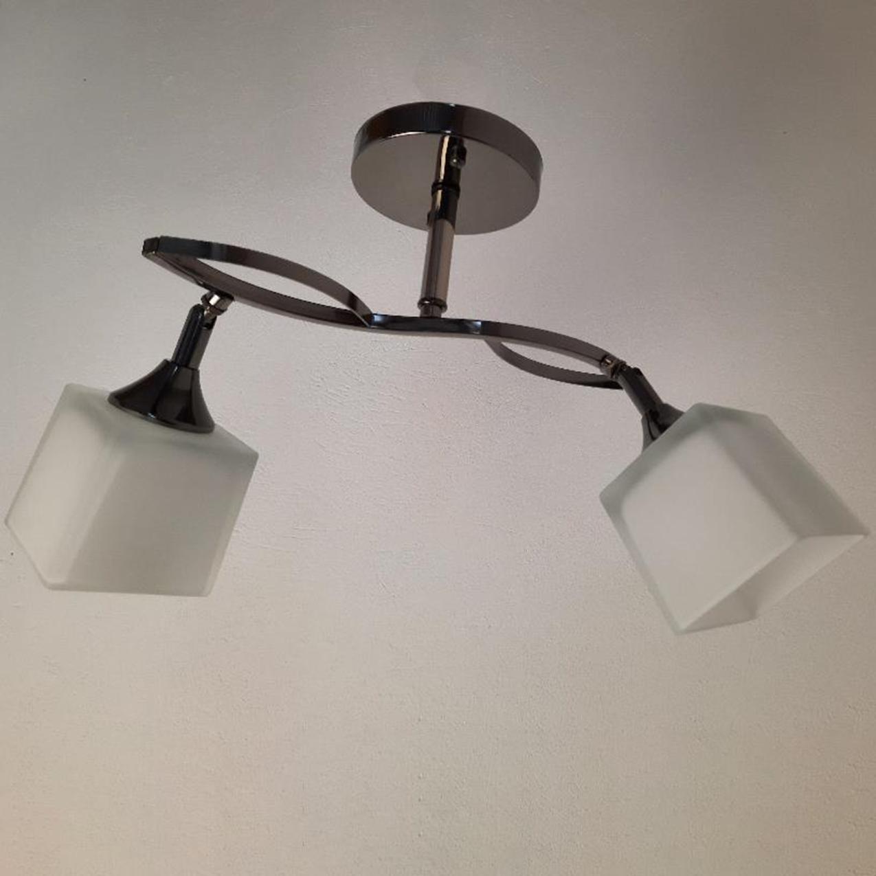 Люстра стельова на дві лампи 3-N3498/2 BCH