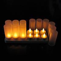 Свечи чайные аккумуляторные светодиодные, набор