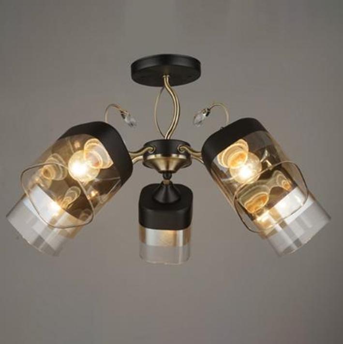 Люстра стельова на п'ять ламп 3-A3451/5 BK+AB