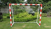 Ворота футбольные детские стальные 2000х1500 ( не разборные) с полосами