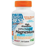 Магний глицинат быстрого поглощения, Doctor's Best, 240 таблеток