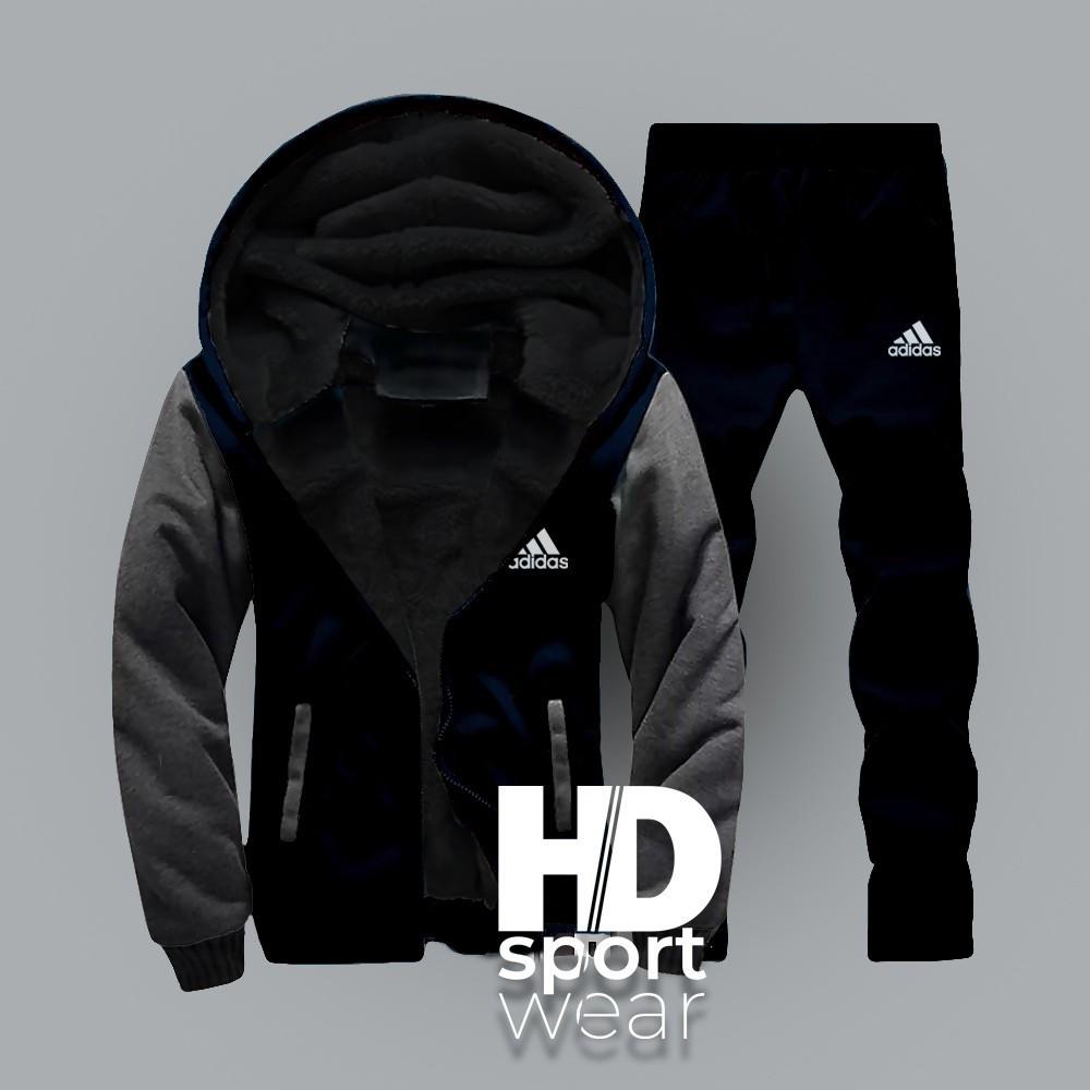 Мужские спортивные костюмы Adidas т.синий