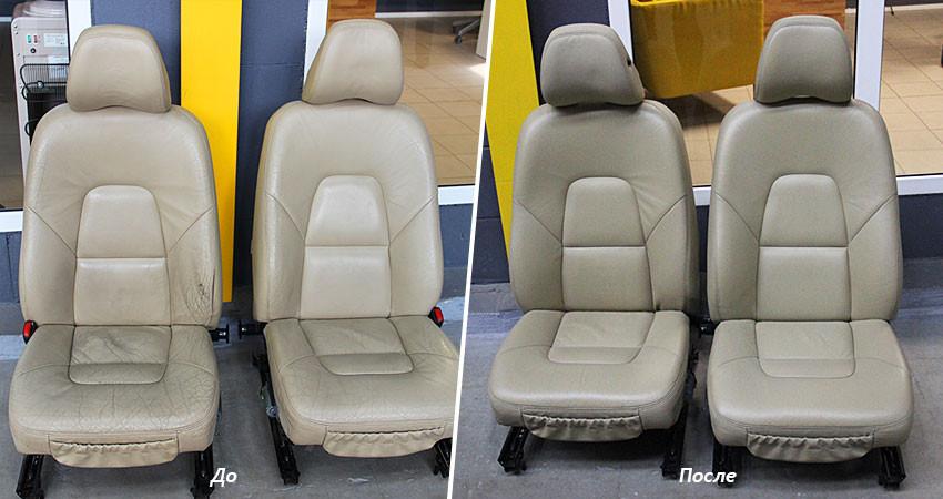 3. Реставрація сидіння авто за допомогою матеріалів Fenice Domino Leather
